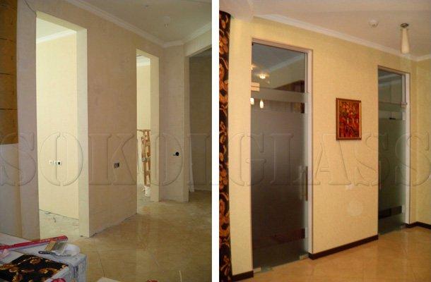 Виготовлення скляних дверей