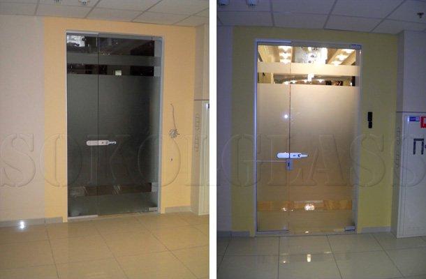 Стеклянные двери, монтаж, заказать в Киеве