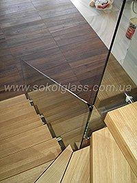 Стеклянное ограждение лестниц, заказать
